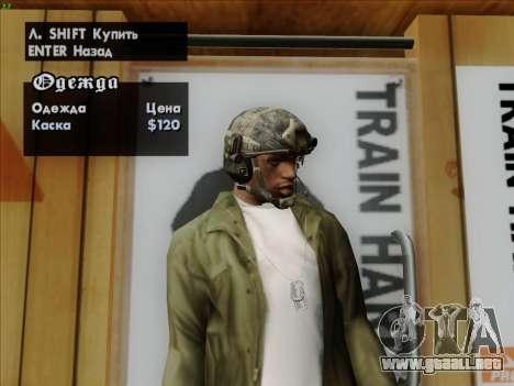 Casco de Call of Duty MW3 para GTA San Andreas quinta pantalla