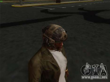 Casco de Call of Duty MW3 para GTA San Andreas sucesivamente de pantalla