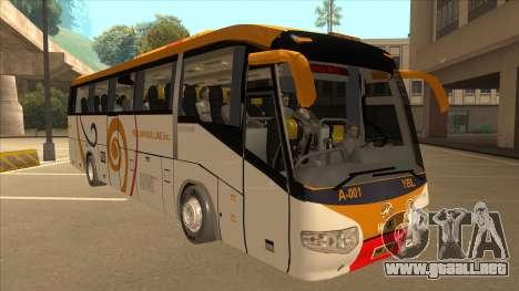 Higer KLQ6129QE - Yellow Bus Line A-001 para GTA San Andreas left
