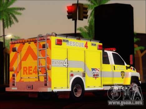 GMC C4500 Topkick BCFD Rescue 4 para la visión correcta GTA San Andreas
