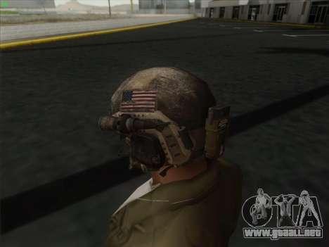 Casco de Call of Duty MW3 para GTA San Andreas tercera pantalla