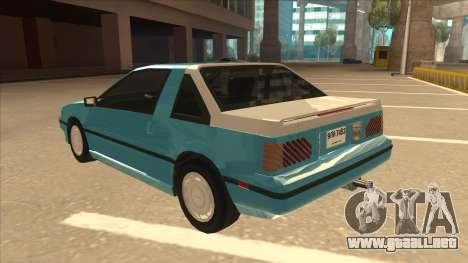 Nissan EXA L.A. Version para la vista superior GTA San Andreas
