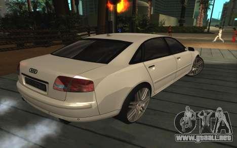 Audi A8L D3 para la visión correcta GTA San Andreas