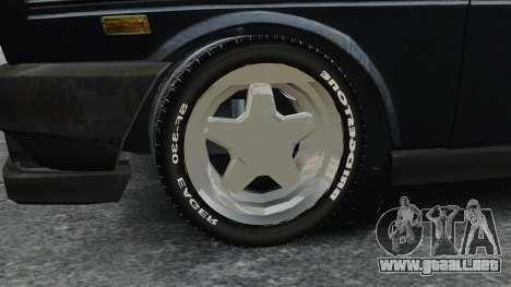 Fiat 131 para GTA 4 vista hacia atrás
