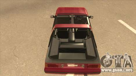 Nissan EXA L.A. Version para visión interna GTA San Andreas