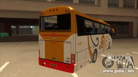 Higer KLQ6129QE - Yellow Bus Line A-001 para la visión correcta GTA San Andreas