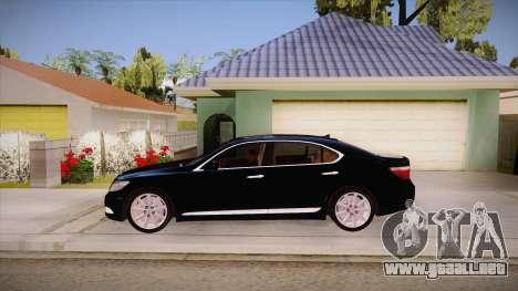 Lexus LS 600h L para GTA San Andreas left