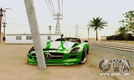 Mercedes SLS AMG 2010 Hamann v2.0 para vista lateral GTA San Andreas