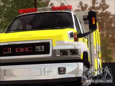 GMC C4500 Topkick BCFD Rescue 4 para GTA San Andreas interior