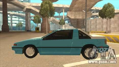 Nissan EXA L.A. Version para vista lateral GTA San Andreas