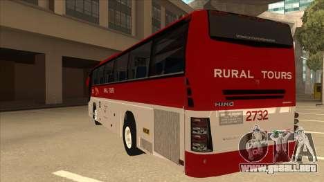 Rural Tours 2732 para GTA San Andreas vista hacia atrás