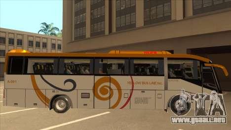 Higer KLQ6129QE - Yellow Bus Line A-001 para GTA San Andreas vista posterior izquierda