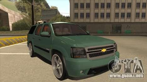 Chevrolet Tahoe Sound Car The Adiccion para GTA San Andreas left