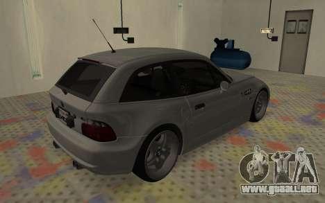 BMW Z3 M Power 2002 para la visión correcta GTA San Andreas