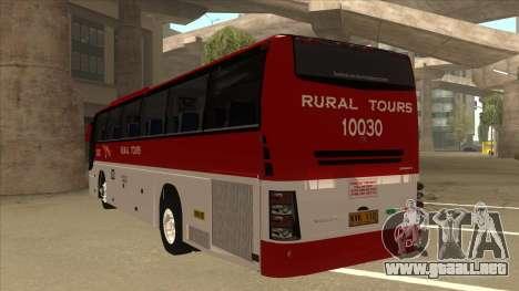 Rural Tours 10030 para GTA San Andreas vista hacia atrás