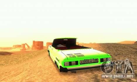ZAZ 968 Cabriolet Tuning para visión interna GTA San Andreas