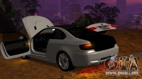 BMW M3 E92 para la vista superior GTA San Andreas