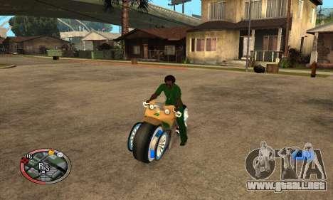 Tadpole Motorcycle para la visión correcta GTA San Andreas