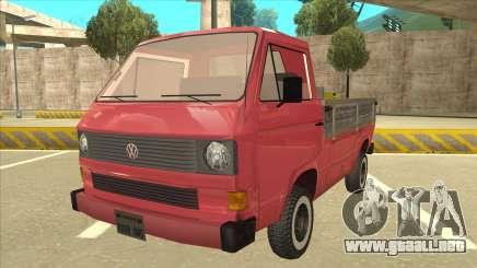 Volkswagen Transporter T3 Pritsche para GTA San Andreas