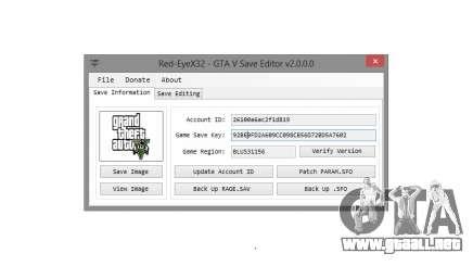 GTA V Save Editor v2.0 by Red-EyeX32 para GTA 5