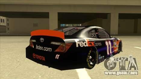 Toyota Camry NASCAR No. 11 FedEx Express para la visión correcta GTA San Andreas