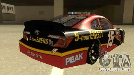 Toyota Camry NASCAR No. 15 5-hour Energy para la visión correcta GTA San Andreas