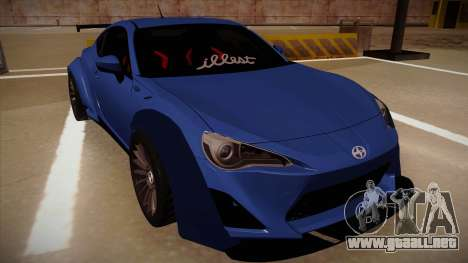Scion FR-S Rocket Bunny para GTA San Andreas left