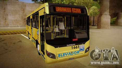 Busscar Urbanuss Ecoss MB OF 1722 M BHBUS para GTA San Andreas left