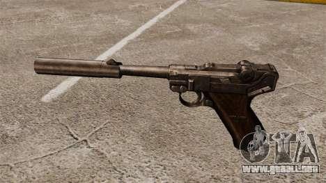 Pistola Parabellum v2 para GTA 4 tercera pantalla