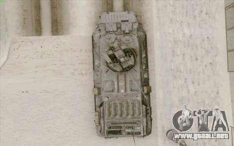 BTR-80 para la vista superior GTA San Andreas