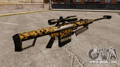 El v12 de rifle de francotirador Barrett M82 para GTA 4 segundos de pantalla