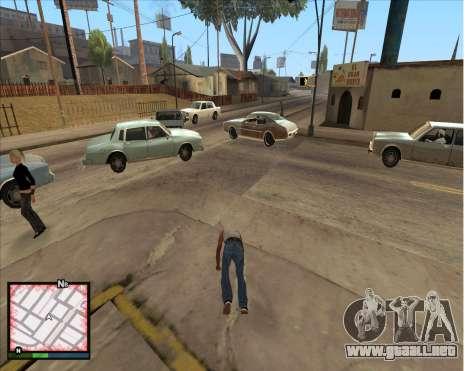 GTA 5 HUD para GTA San Andreas tercera pantalla
