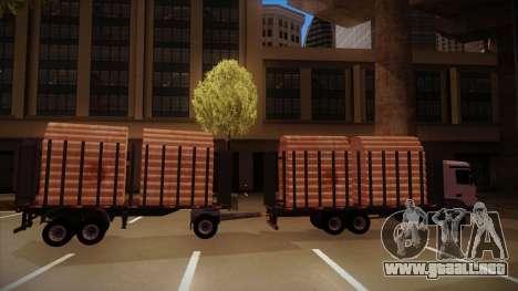 Parte de conexión de un remolque de camión de ma para la visión correcta GTA San Andreas
