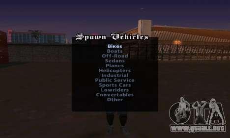 Cheat Menu para GTA San Andreas tercera pantalla