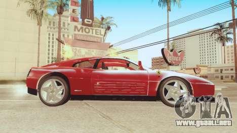 Ferrari 348 TB para GTA San Andreas vista posterior izquierda