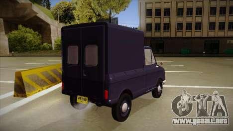 Suzulight Carry 360 para visión interna GTA San Andreas