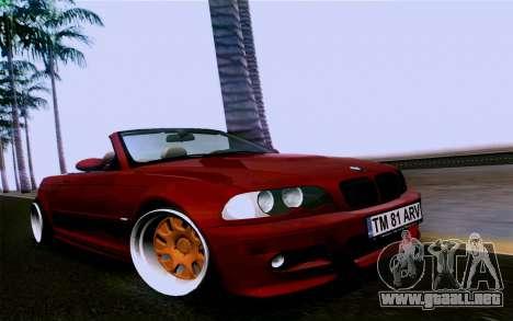 BMW M3 Cabrio para la visión correcta GTA San Andreas