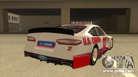 Ford Fusion NASCAR No. 32 U.S. Chrome para la visión correcta GTA San Andreas