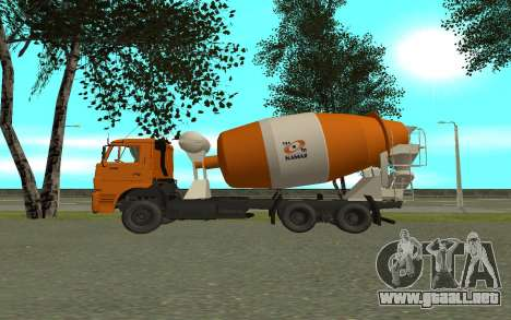 KAMAZ 6520 cemento para GTA San Andreas left
