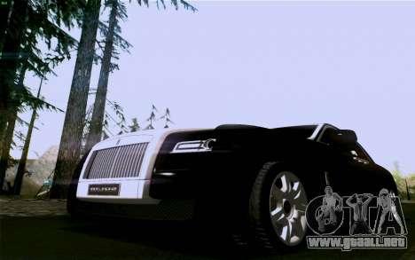 Rolls-Royce Ghost para GTA San Andreas vista posterior izquierda