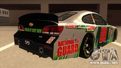 Chevrolet SS NASCAR No. 88 Diet Mountain Dew para la visión correcta GTA San Andreas