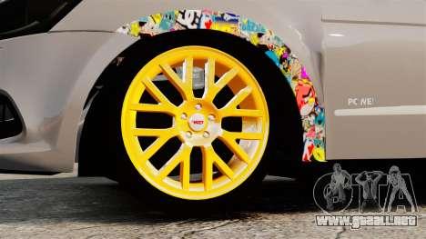 Volkswagen Gol G6 2013 Turbo Socado para GTA 4 vista hacia atrás