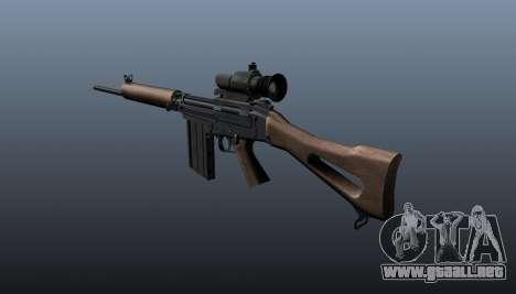 Rifle de francotirador FN FAL para GTA 4 segundos de pantalla
