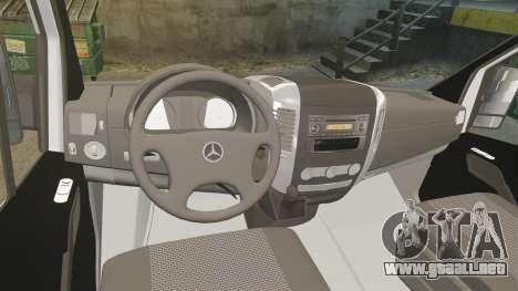 Mercedes-Benz Sprinter Croatian Police [ELS] para GTA 4 vista hacia atrás