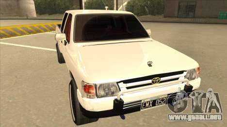 Toyota Hilux 2004 para GTA San Andreas left