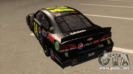 Chevrolet SS NASCAR No. 24 Pepsi Max AARP para GTA San Andreas vista hacia atrás