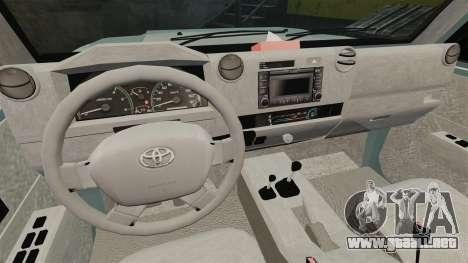 Toyota Land Cruiser 76 Wagon GXL 2010 para GTA 4 vista hacia atrás