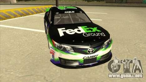 Toyota Camry NASCAR No. 11 FedEx Ground para GTA San Andreas left
