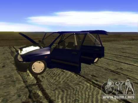 Kia Pride Hatchback para visión interna GTA San Andreas