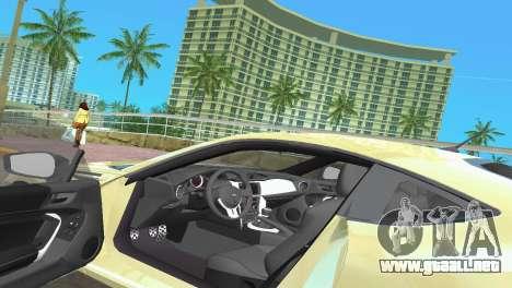 Subaru BRZ Type 1 para GTA Vice City vista desde abajo